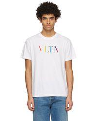 Valentino - ホワイト Vltn T シャツ - Lyst
