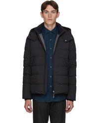 Ermenegildo Zegna Navy Down Hooded Puffer Jacket - Blue