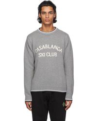 CASABLANCA グレー Ski Club セーター