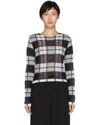 McQ - Black Sheer Check Jumper Sweater - Lyst