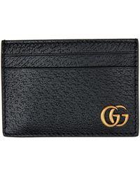 Gucci ブラック GG Marmont マネー クリップ カード ケース