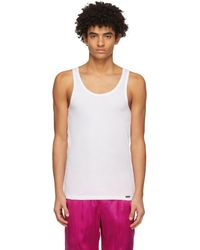 Tom Ford White Rib Tank Top