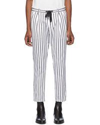 Dolce & Gabbana - ホワイト And ブラック ストライプ トラウザーズ - Lyst