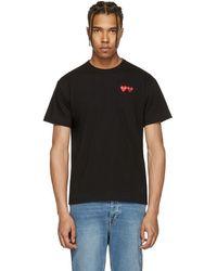 Play Comme des Garçons - Black Double Heart T-shirt - Lyst