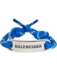 Balenciaga ブルー Plate ブレスレット