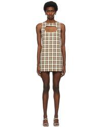 Ashley Williams Beige & Brown Liv Dress - Natural