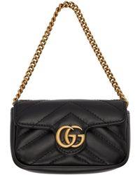 Gucci Porte-cartes noir GG Marmont