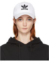 Adidas Originals | White Trefoil Cap | Lyst