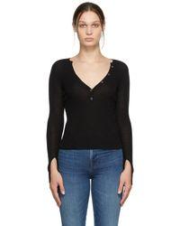 FRAME ブラック V ネック セーター