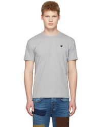 Play Comme des Garçons - Grey Small Heart T-shirt - Lyst