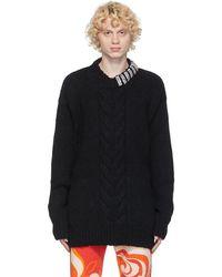 Dries Van Noten - ブラック ラインストーン カラー セーター - Lyst