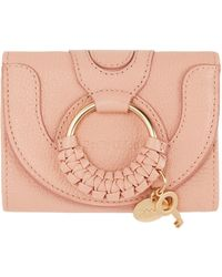 See By Chloé Portefeuille rose Compact Hana
