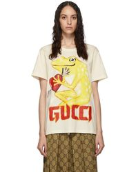 Gucci - Off-white Frog Heart T-shirt - Lyst