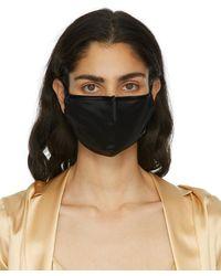 La Perla Black Silk Face Mask - Multicolour