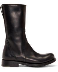 Rick Owens - Black Cop Zip Boots - Lyst