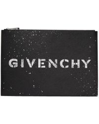 Givenchy - Black Iconic Logo Pouch - Lyst