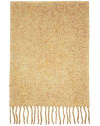 Séfr Beige Wool Scarf - Natural