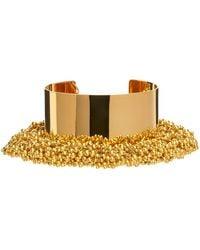 Dries Van Noten Beaded Cuff Bracelet - Metallic