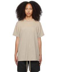 Fear Of God T-shirt 'fg' beige - Neutre