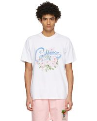 CASABLANCA ホワイト Hibiscus T シャツ
