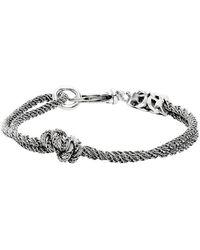 Emanuele Bicocchi Bracelet argente Double Knot - Métallisé