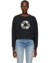 RE/DONE - Black Recycle Sweatshirt - Lyst