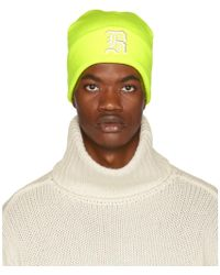 R13 - Yellow Embroidered Logo Beanie - Lyst