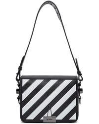 Off-White c/o Virgil Abloh Black Diagonal Flap Bag