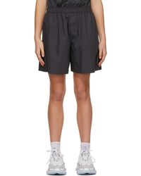 we11done - Grey Logo Patch Shorts - Lyst