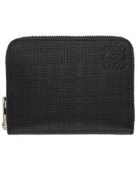Loewe - Black Zip Card Holder - Lyst
