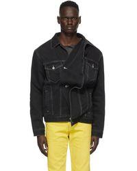 Y. Project ブラック デニム ツイスト ジャケット