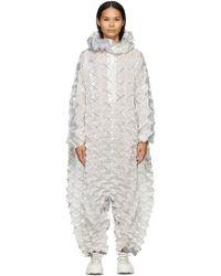 Issey Miyake ホワイト Frost ジャンプスーツ