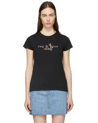 Rag & Bone - Black Bouquet Logo T-shirt - Lyst