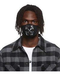 Off-White c/o Virgil Abloh Off- Grey caravaggio Arrow Simple Mask - Black