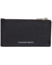 Alexander McQueen - Black Logo Card Holder - Lyst