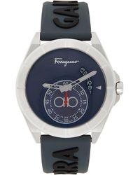 Ferragamo ネイビー Urban 腕時計 - ブルー
