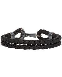 Bottega Veneta - Black Intrecciato Nappa Bracelet - Lyst