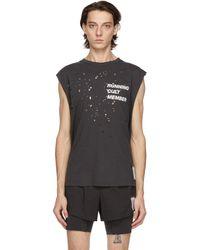Satisfy - T-shirt sans manches noir Moth Eaten 'Cult' - Lyst