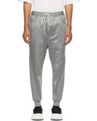 Song For The Mute - Grey Panelled Lounge Trousers - Lyst