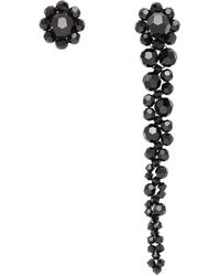 Simone Rocha Black Mini Drip Stud Earrings