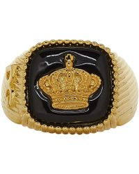 Dolce & Gabbana - Gold Crown Ring - Lyst