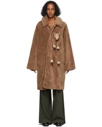 Doublet Tan Wool & Stuffed Animal Coat - Brown