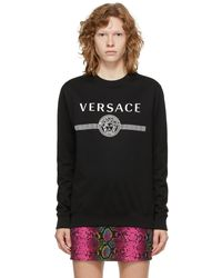 Versace ブラック Medusa ロゴ スウェットシャツ