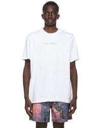 DOUBLE RAINBOUU ホワイト ロゴ T シャツ