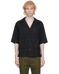 Visvim ブラック Cornet シャツ