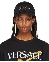 Versace ブラック Gv シグネチャ キャップ