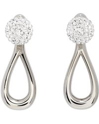 Loewe Silver Drop Earrings - Metallic
