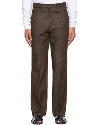 AURALEE Brown Five-pocket Jeans