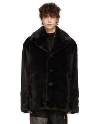 Mastermind Japan Faux-fur Jacket - Black