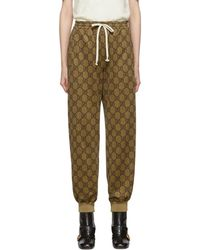 Gucci Beige GG Logo Lounge Pants - Natural